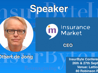 InsurByte is happy to announce Insurance Market and Otbert de Jong as our Speaker for InsurByte Conf