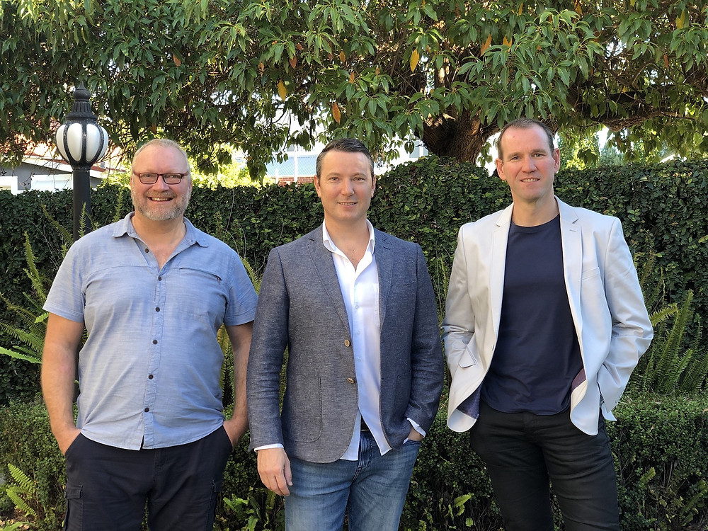 From left: PictureWealth chairman Neal Cross, group CEO David Pettit, and group chief operating officer Mark Edman / Photo credit: PictureWealth