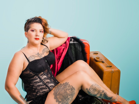 Corset | Tattoo Pinup | Laina Louise Pinup Model