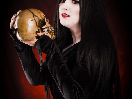 Halloween Morticia Pinup | Laina Louise Pinup Model