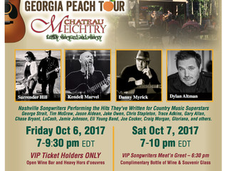 Chateau Meichtry Celebrates Fall Season with Nashville Songwriters Georgia Peach Tour