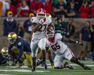 UGA Takes over South Bend - Dawgs on Top 20-19