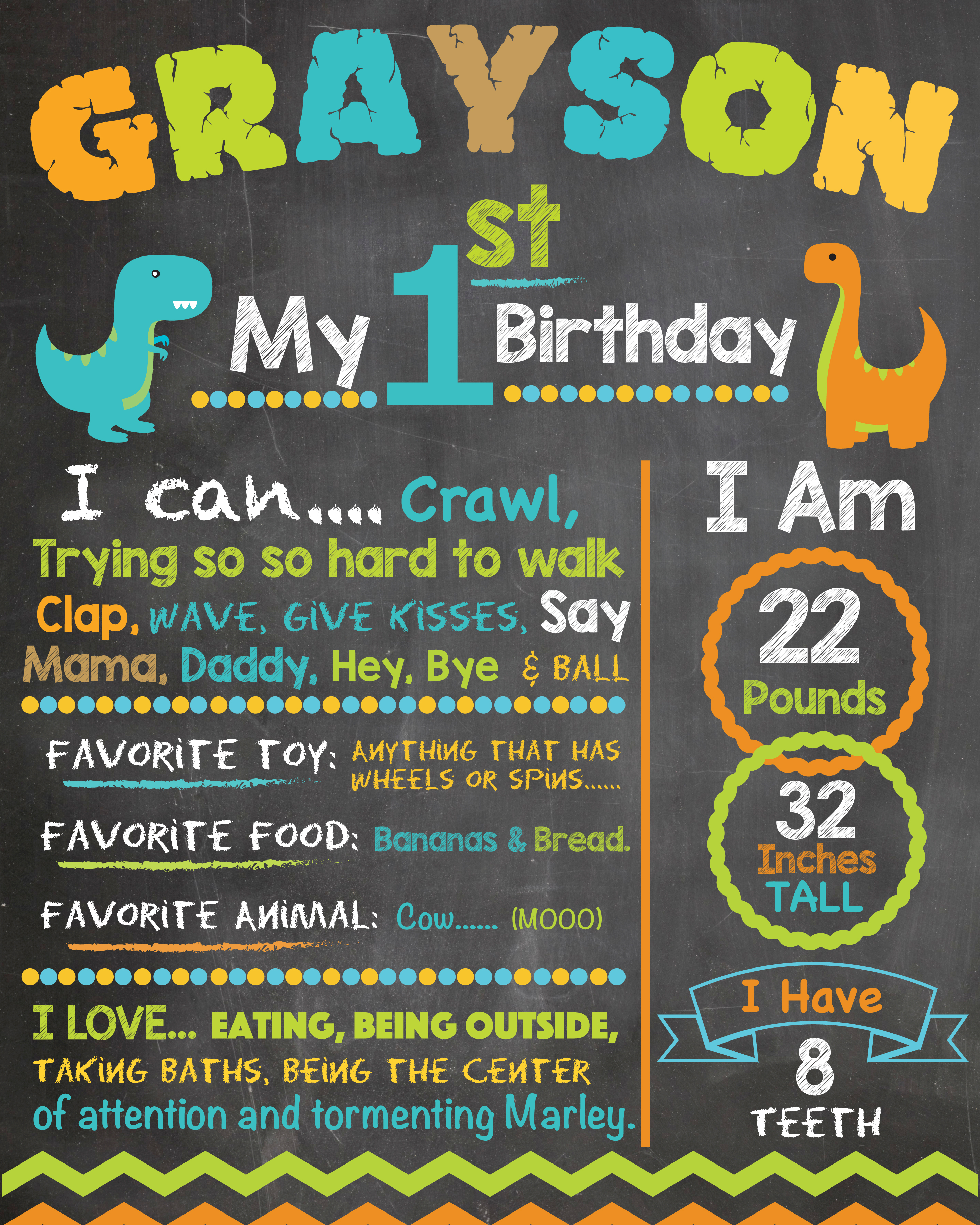 Custom Birthday Sign