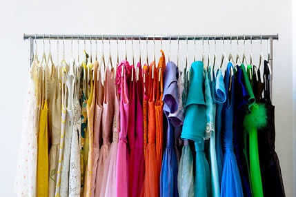rolling-clothes-rack-color-coded-shirts-