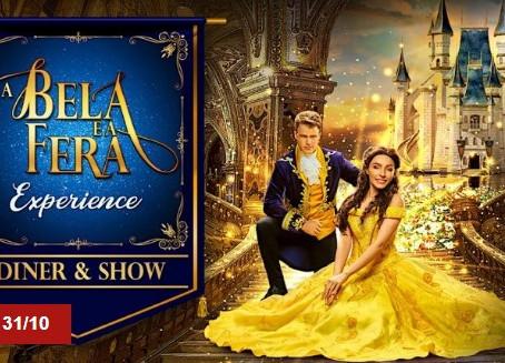 """""""A Bela e a Fera Experience"""" tem jantar em castelo com noite de dança, magia e diversão"""