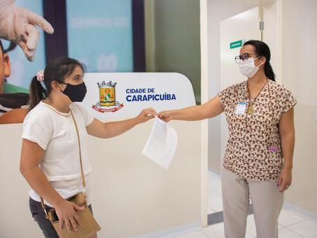 Carapicuíba realiza testes para a covid-19 em 2.000 profissionais da rede municipal de educação