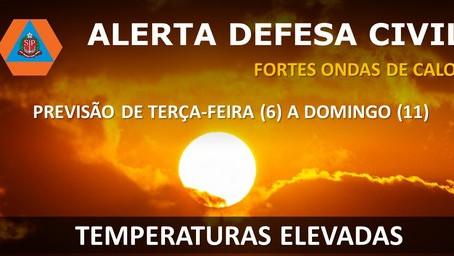 Defesa Civil do Estado emite alerta de calor intenso