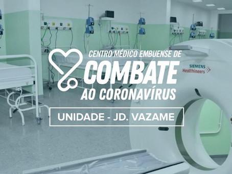 Embu das Artes inaugura segundo Centro Médico de Combate ao Coronavírus no Jardim Vazame.
