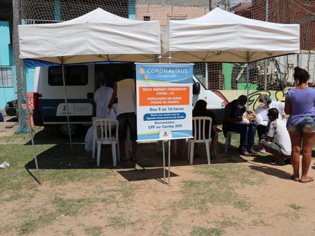 Prefeitura leva testes rápidos de coronavírus aos bairros de Carapicuíba