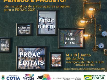 Inscrições abertas para oficinas exclusivas para artistas e produtores culturais de Cotia