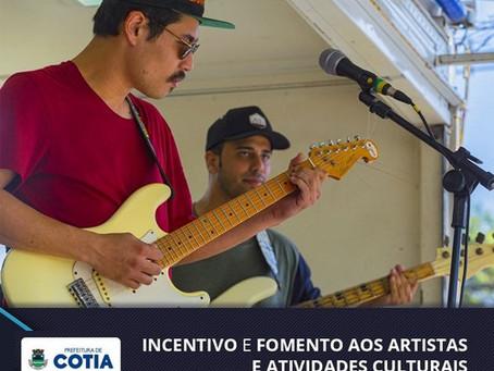 Auxílio Cultural: Cotia lança cadastramento de artistas de cultura e espaços e coletivos culturais