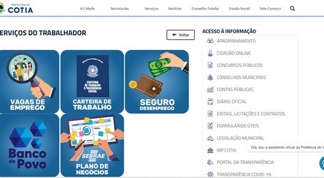 Prefeitura de Cotia lança novos serviços online para o cidadão