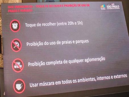 São Paulo prorroga fase emergencial da quarentena até o dia 11 de abril