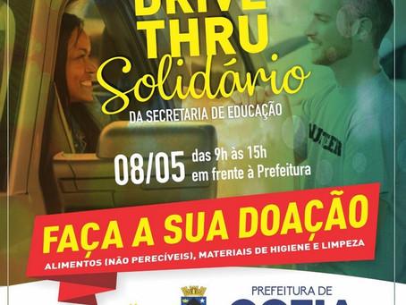 """Sexta-feira (8/05) tem """"Drive-thru Solidário"""" em frente à Prefeitura de Cotia"""