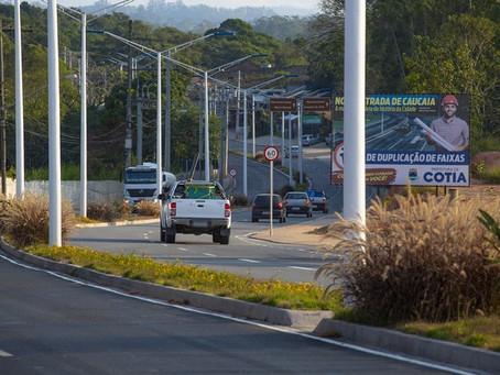 Obra de duplicação da Estrada de Caucaia do Alto chega à fase final
