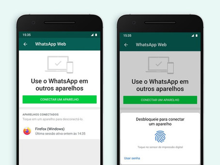 Login no WhatsApp Web terá autenticação por biometria