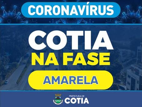 Cotia passa para a fase amarela e autoriza a retomada gradual de alguns serviços não essenciais