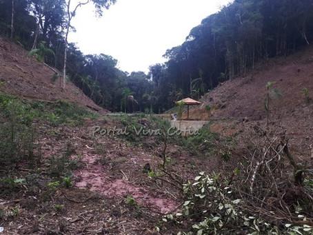 Polícia Ambiental recebe denúncia de desmatamento na Serra do Mar, em Juquitiba