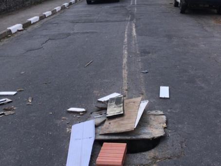 De olho no meu bairro: Morador reclama de tampa de bueiro aberta no Pq. São George