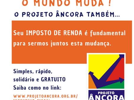Projeto Âncora: Carta do mês de Maio