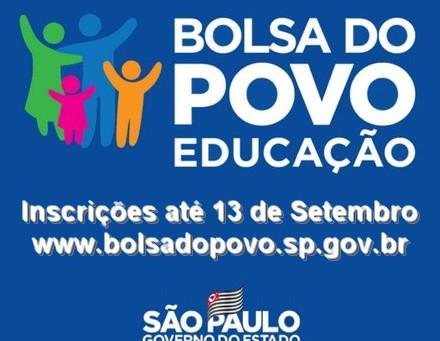 Estudantes da rede estadual podem se inscrever no Bolsa do Povo Educação até dia 13/9