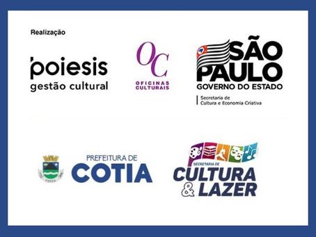 Cotia: Inscrições abertas para cursos, palestras e oficinas gratuitas em parceria com a Poiesis