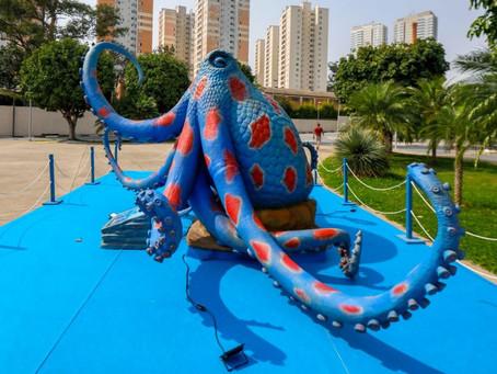 """Osasco tem exposição """"O Fantástico Mundo Marinho"""", com as maiores criaturas do fundo do mar"""