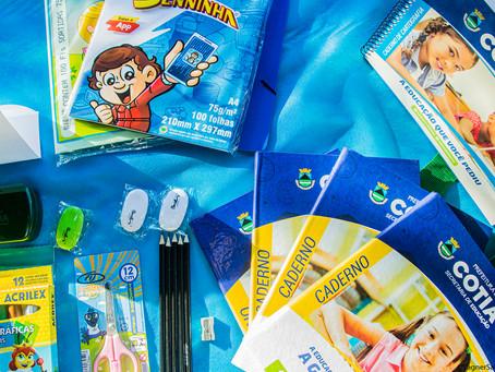 Cotia: Estudantes da rede municipal receberão kit de material escolar no dia 24
