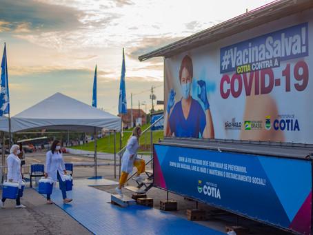 Cotia: Dia 9/03 tem vacinação contra Covid-19 para idosos com idade a partir de 77 anos
