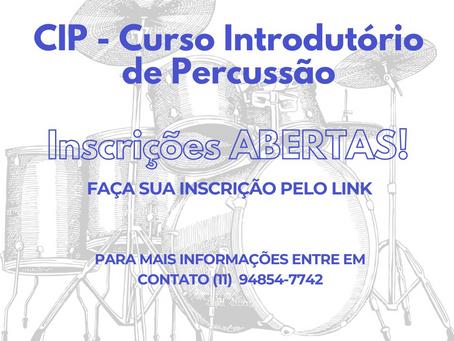 Cotia: Inscrições abertas para Curso Introdutório de Percussão