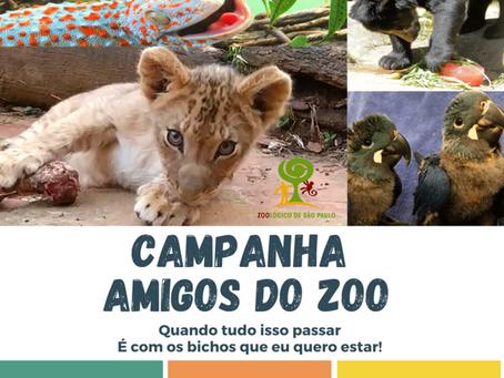 """Zoológico de SP lança campanha """"Amigos do Zoo"""""""