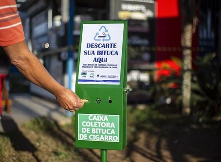 Cotia ganha projeto de coleta e reciclagem de bitucas de cigarro