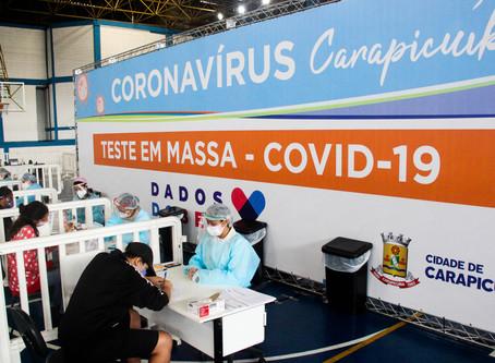Carapicuíba realiza drive-thru para testagem de coronavírus (RT-PCR) em idosos a partir de 60 anos