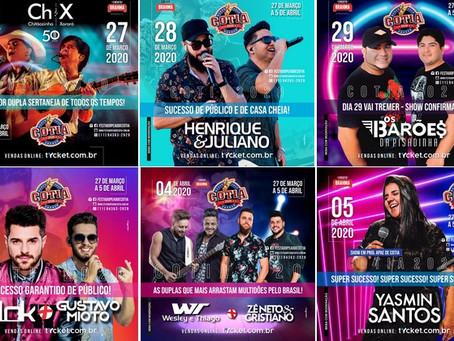 Festa do Peão de Cotia: Edição 2020 terá grandes shows