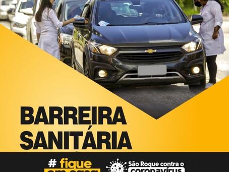 São Roque terá barreiras sanitárias de sexta a domingo
