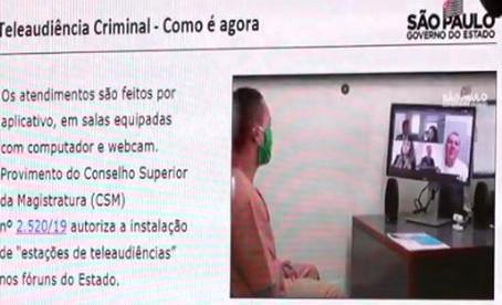 SP conclui instalação de sistemas de teleaudiência criminais em 100% dos presídios do estado