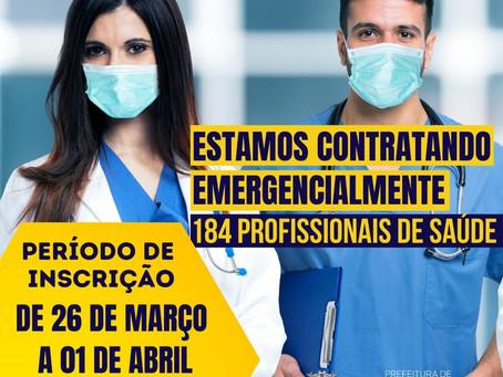 Jandira abre processo para contratação de 184 profissionais de saúde