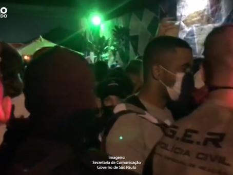 Taboão da Serra: Força-Tarefa flagra festa clandestina com mais de 460 pessoas