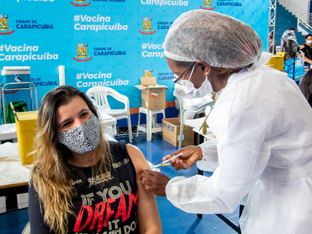 Carapicuíba: Prefeitura inicia vacinação de pessoas com 37 anos ou mais