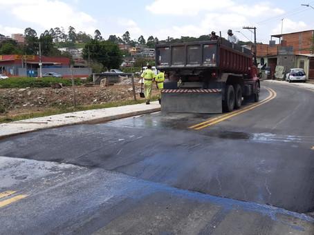 Prefeitura implanta redutores de velocidade no Jd. São Miguel