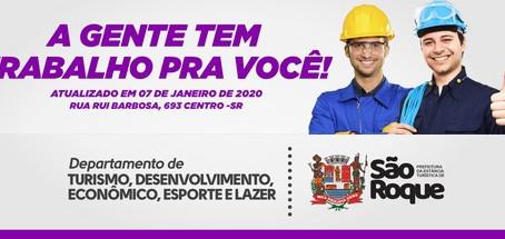 São Roque divulga vagas de emprego do PAT