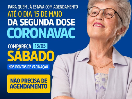 Embú das Artes: Prefeitura convoca para segunda dose da Coronavac neste sábado, 15/5