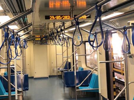 """Trens do Metrô passam a ter """"alças pega-mãos"""""""