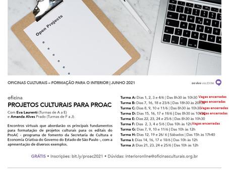 ProAC tem inscrições para oficina voltada para artistas, produtores e agentes culturais