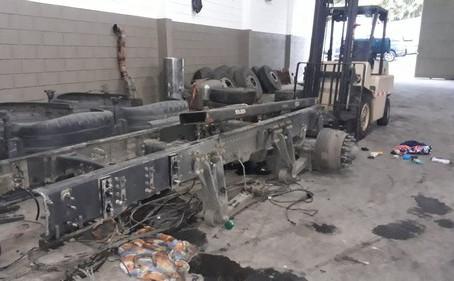 Cotia: Guarda Civil localiza desmanche de caminhões no Jd. Pioneiro