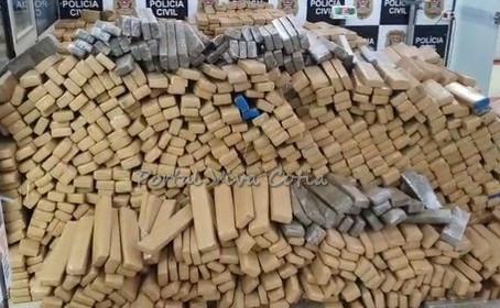 Polícia Civil apreende mais de 7 toneladas de drogas em Vargem Grande Paulista