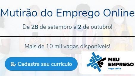 Governo de SP e UGT realizam primeiro mutirão virtual de emprego com mais de 10 mil vagas