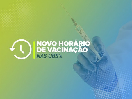 Embu das Artes: UBS´s tem novo horário de vacinação a partir desta segunda, 22/6