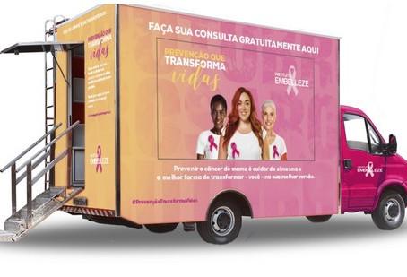 Outubro Rosa: Instituto promove consultas online com especialistas e consultório médico itinerante