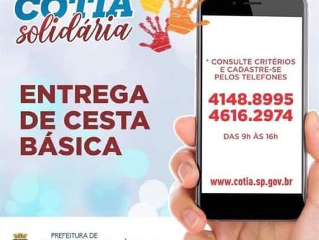 Cotia Solidária segue cadastrando famílias em vulnerabilidade social